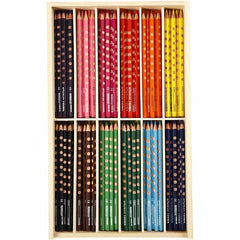 144 x Lyra Ergonomic Triangular Shaped Assorted Colour Slim Colouring Pencils 18 cm - Hobby & Crafts