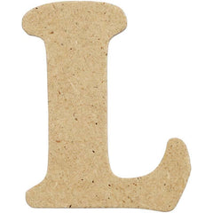 10 x Pre Punched MDF Wooden Letter 4 cm - Initial L - Hobby & Crafts