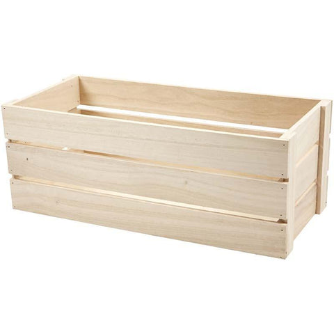 Wooden Fruit Crates Decoration Craft Material 45 cm - Hobby & Crafts