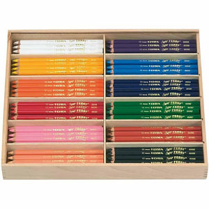 144 x Lyra Super Ferby Triangular Shaped Assorted Colour Pencils 18 cm - Hobby & Crafts