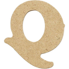 10 x Pre Punched MDF Wooden Letter 4 cm - Initial Q - Hobby & Crafts