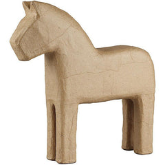 24cm Horse Animal Shaped Craft Paper Mache Make Your Own Decoration - Hobby & Crafts