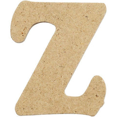10 x Pre Punched MDF Wooden Letter 4 cm - Initial Z - Hobby & Crafts