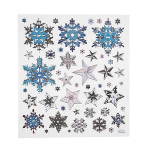 Colourful Snowflakes Crystals Glitter Stickers Self Adhesive Embellishment Decoration Craft - Hobby & Crafts