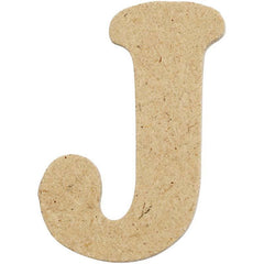 10 x Pre Punched MDF Wooden Letter 4 cm - Initial J - Hobby & Crafts