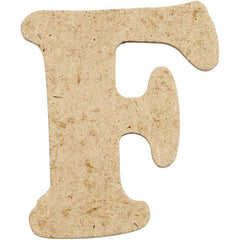 10 x Pre Punched MDF Wooden Letter 4 cm - Initial F - Hobby & Crafts