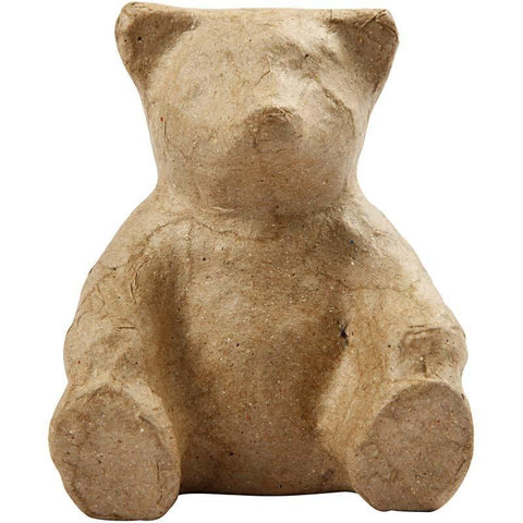 8cm Teddy Bear Sitting Animal Shaped Craft Paper Mache Make Your Own Decoration Model Art - Hobby & Crafts