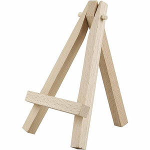 10 x Brich Wood Artist Mini Easel Stand For Painting Canvas 12 cm - Hobby & Crafts