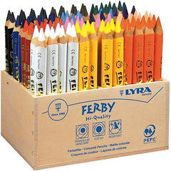96 x Lyra Super Ferby Triangular Shaped Assorted Colour Pencils 12 cm - Hobby & Crafts