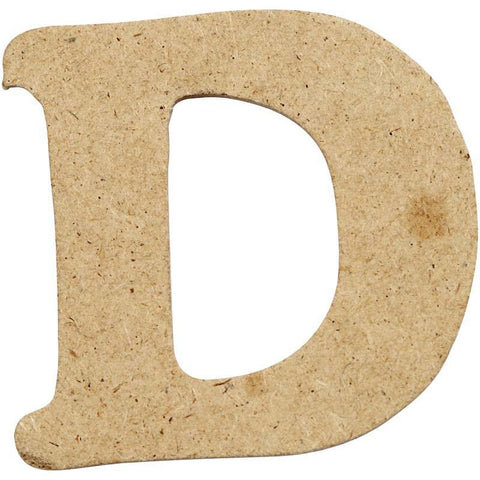10 x Pre Punched MDF Wooden Letter 4 cm - Initial D - Hobby & Crafts