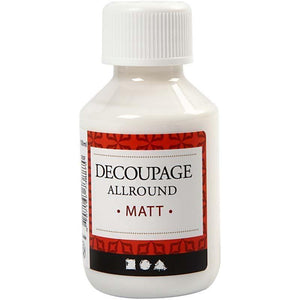 Decoupage All Round Matt Lacquer Sealing Glue 100ml - Hobby & Crafts