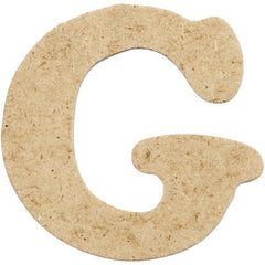 10 x Pre Punched MDF Wooden Letter 4 cm - Initial G - Hobby & Crafts