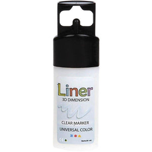 3D Liner Universal Colour Clear Marker For Non Greasy Surface Painting 30 ml - Hobby & Crafts