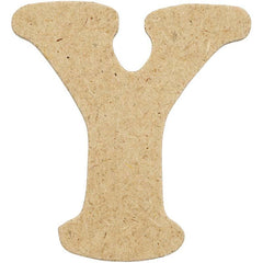 10 x Pre Punched MDF Wooden Letter 4 cm - Initial Y - Hobby & Crafts