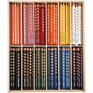 144 x Lyra Ergonomic Triangular Shaped Assorted Colour Colouring Pencils 18 cm - Hobby & Crafts
