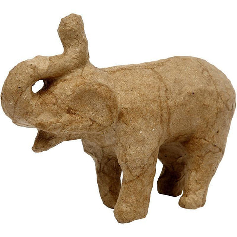 10cm Elephant Animal Shaped Craft Paper Mache Make Your Own Decoration Model Art - Hobby & Crafts