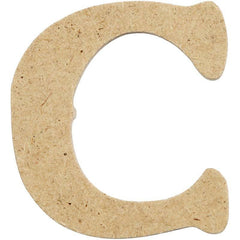 10 x Pre Punched MDF Wooden Letter 4 cm - Initial C - Hobby & Crafts
