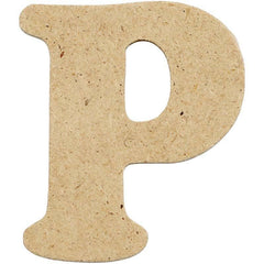 10 x Pre Punched MDF Wooden Letter 4 cm - Initial P - Hobby & Crafts