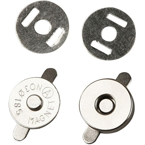 5 Sets Of Round Magnetic Clasp Pair Closure Bag 18mm Buttons Snap Close Sewing Craft - Hobby & Crafts