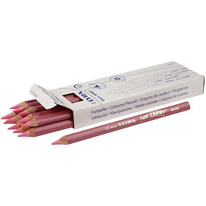 12 x Lyra Super Ferby Triangular Shaped Llight Red Colour Pencils 18 cm - Hobby & Crafts