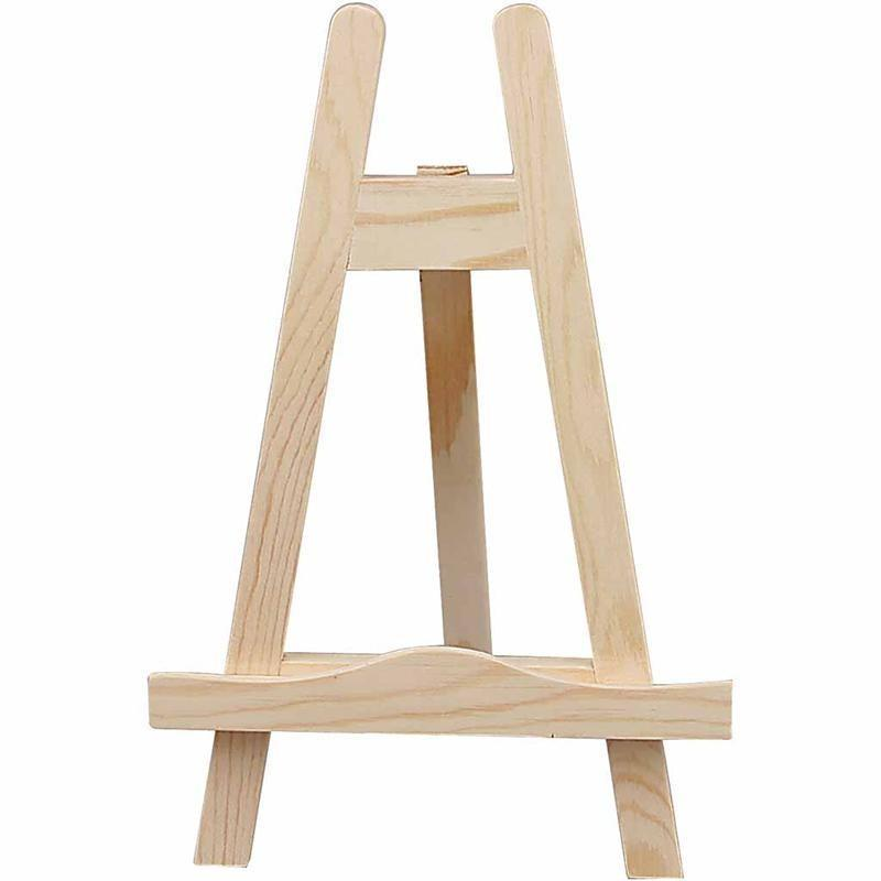 25cm Wooden Art Artists Mini Easel Stand Painting Dolls House Miniature Craft - Hobby & Crafts