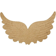 5 x 13cm Embossed Angel Wings Shaped Craft Paper Mache - Hobby & Crafts