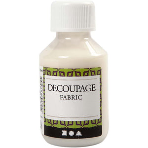 Decoupage Fabric Lacquer Sealing Glue 100ml - Hobby & Crafts