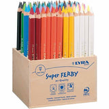 96 x Lyra Super Ferby Triangular Shaped Assorted Colour Pencils 18 cm - Hobby & Crafts