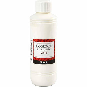 Decoupage All Round Matt Lacquer Sealing Glue 250 ml - Hobby & Crafts