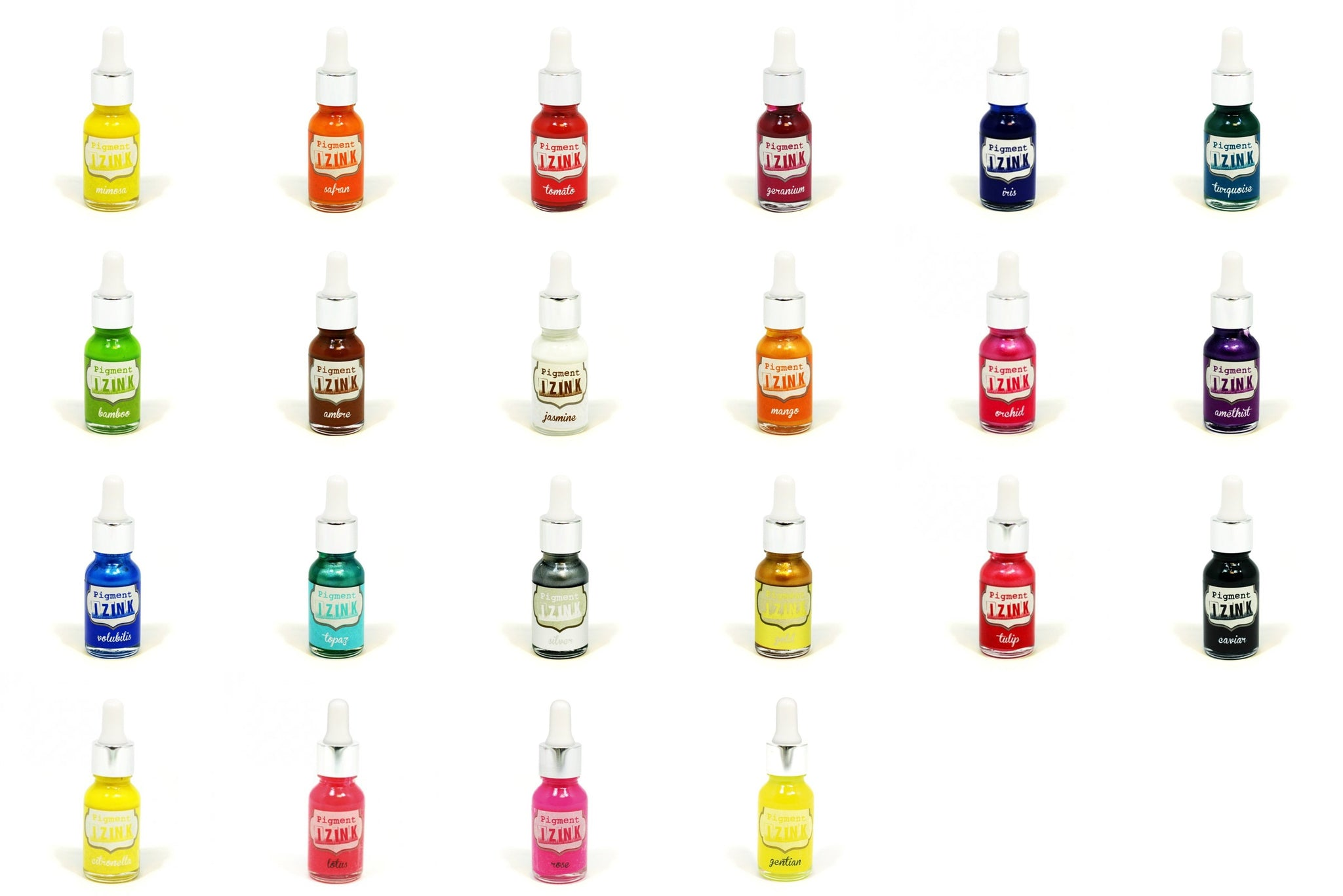 22 x Aladine All Colour Water Based Izink Pigment Ink Scrapbooking Stamping 15ml - Hobby & Crafts