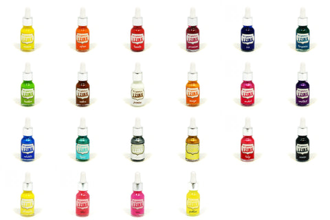 Aladine Assorted Colour Water Based Izink Pigment Ink Scrapbooking Stamping 15ml - Hobby & Crafts