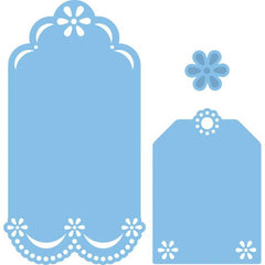 LR0154 - Marianne Creatables Stencil Die Cutting Embossing Sizzix - Labels Tags Daisy - Hobby & Crafts