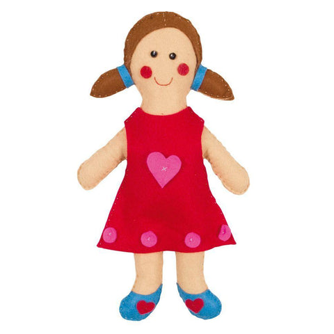 Dolly Doll Felt Appliqu?® Craft Kit Embellishments Needlecraft Kits Canvases 33cm - Hobby & Crafts