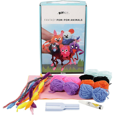 Assorted Colours Yarn DIY Material Kit For Pompom Animals Making Creative crafts - Hobby & Crafts