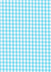 "Aqua Gingham Polycotton 1/4"" Checked Fabric Select Size 112cm Wide"