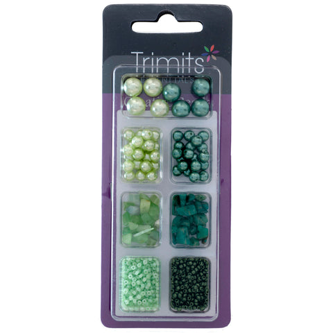 Impex Trimits Jewellery Craft Creative Beads Kits Green Colours Mixed Pack - Hobby & Crafts