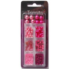 Impex Trimits Jewellery Craft Creative Beads Kits Pink Colours Mixed Pack - Hobby & Crafts