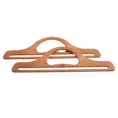 Pair Of Plastic Bag Handles For Bag Making 11 inch- Light Brown - Hobby & Crafts