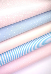 Fabric Bundles Fat Quarters Polycotton Material Baby Pink Blue Floral Spots Children Craft