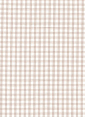 "Beige Gingham Polycotton 1/4"" Checked Fabric Select Size 112cm Wide"