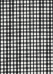 "Black Gingham Polycotton 1/4"" Checked Fabric Select Size 112cm Wide"