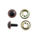 Trimits Soft Toy Eyes With Washers - 10 mm Brown - Hobby & Crafts