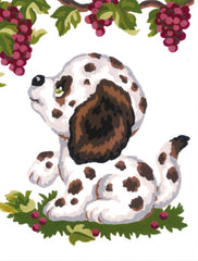 Collection d'Art Printed Needlepoint Tapestry Canvas Kit Needlecraft 14x18cm - Dalmatian Puppy