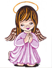 Collection d'Art Printed Needlepoint Tapestry Canvas Kit Needlecraft 14x18cm - Girl Angel Praying