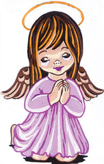 Collection d'Art Printed Needlepoint Tapestry Canvas Needlecraft 20x25cm - Girl Angel Praying