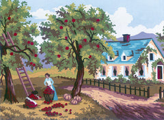 Collection d'Art Printed Needlepoint Tapestry Canvas Needlecraft 20x25cm - Apple Harvest