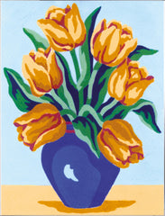 Collection d'Art Printed Needlepoint Tapestry Canvas Kit Needlecraft 14x18cm - Yellow Tulips