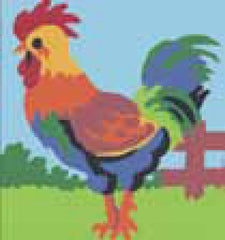 Collection d'Art Printed Needlepoint Tapestry Canvas Kit Needlecraft 20x20cm - Rooster