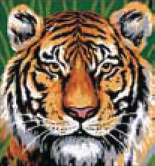 Collection d'Art Printed Needlepoint Tapestry Canvas Kit Needlecraft 20x20cm - Tiger
