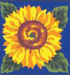 Collection d'Art Printed Needlepoint Tapestry Canvas Kit Needlecraft 20x20cm - Sunflower